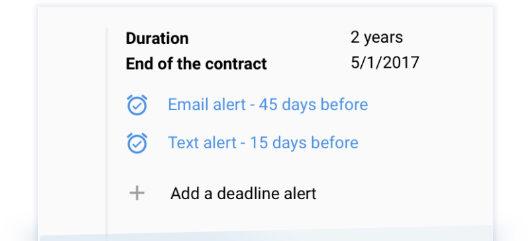 Deadline Alerts Feature